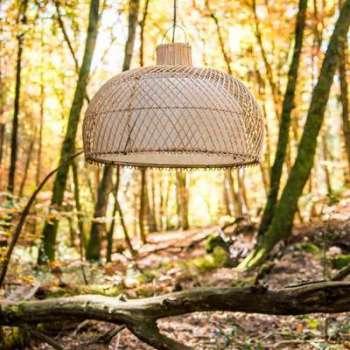 R et m coudert luminaire b b el phant jaune for Lampe suspension osier
