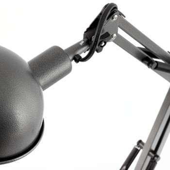 faro c lampe de table baobab 11w grise. Black Bedroom Furniture Sets. Home Design Ideas