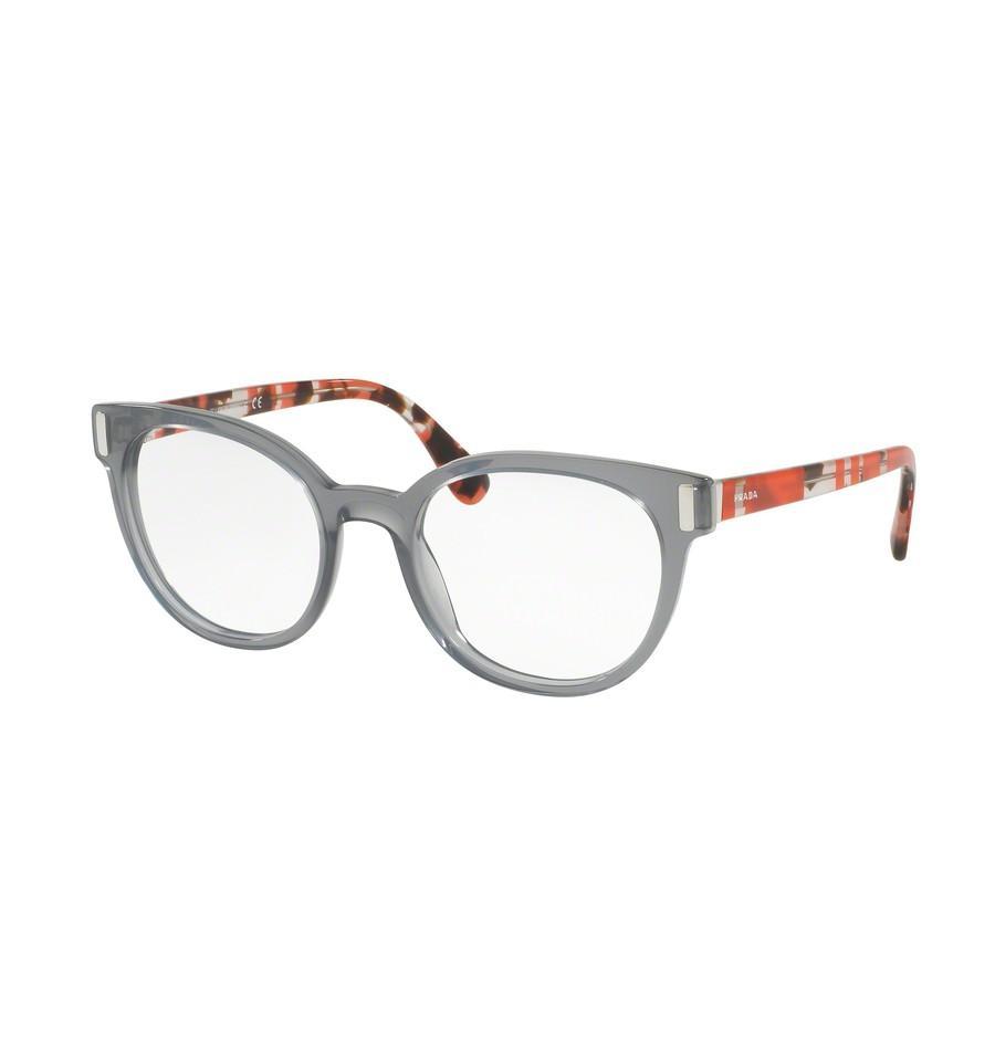 lunettes de vue prada femme pr 06tv tky1o1 gris garantie 1 an. Black Bedroom Furniture Sets. Home Design Ideas