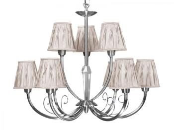 faro luminaire suspendu blanc argent magma p 28398. Black Bedroom Furniture Sets. Home Design Ideas
