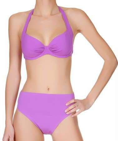 Manuel Canovas Maillot de bain 2 pièces Holly Uni violet Ordre De Vente fiable qhlN4F8IBN