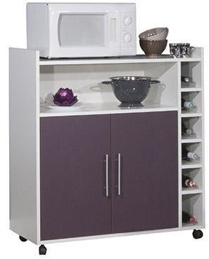 buffet desserte micro ondes 3 portes 2 tiroirs l89xp40xh153cm kouzi. Black Bedroom Furniture Sets. Home Design Ideas