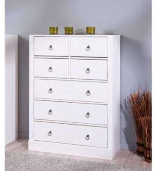 commode 4 tiroirs bazic4t commode blanc laqu sans poign e. Black Bedroom Furniture Sets. Home Design Ideas