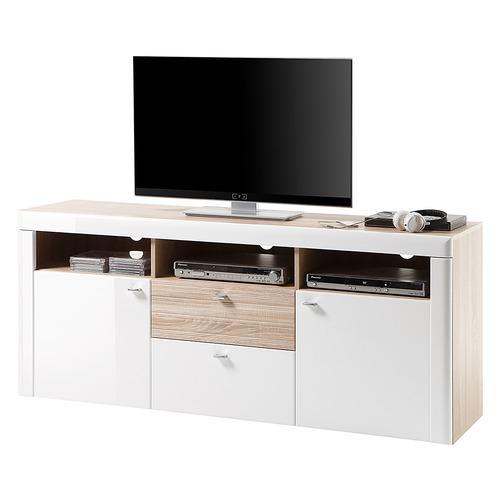 Norstone meuble tv stylum ii blanc for Meuble design imitation
