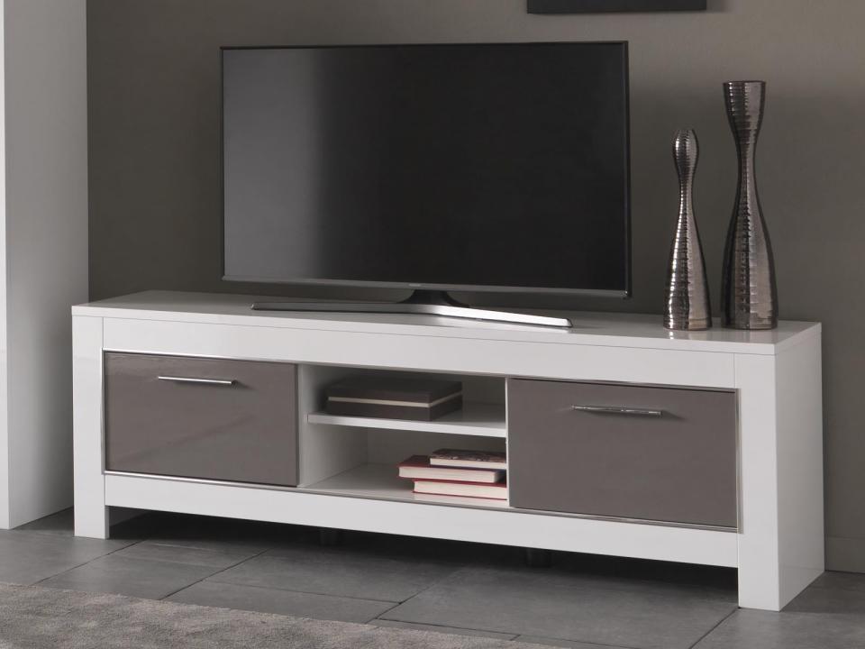 Cat gorie meubles de t l vision marque mobistoxx page 1 du guide et comparateur d 39 achat - Meuble tv hifi blanc laque ...