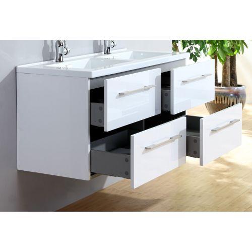 Catgorie salle de bain page 4 du guide et comparateur d 39 achat - Meuble double vasque blanc ...