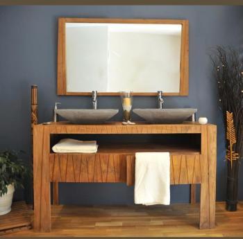 Catgorie meubles salle de bain du guide et comparateur d 39 achat for Meuble teck salle de bain pas cher