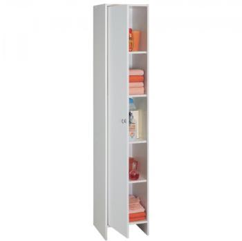 Bikini colonne 2 2 portes 1 tiroir et 2 niches for Fixer une colonne de salle de bain au mur