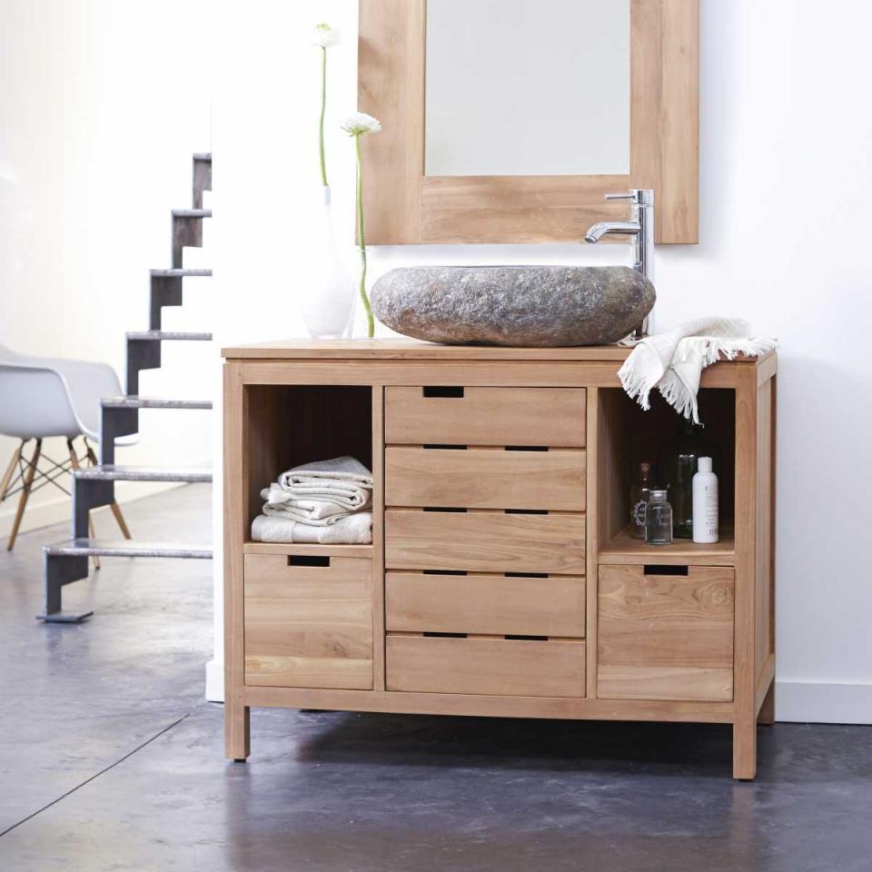 Catgorie meubles salle de bain du guide et comparateur d 39 achat for Meuble de salle de bain en teck massif