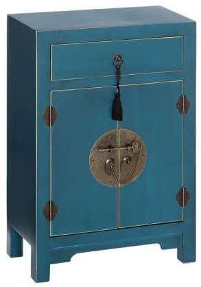 declikdeco petit buffet en imitation bois blanc 2 portes gambl. Black Bedroom Furniture Sets. Home Design Ideas