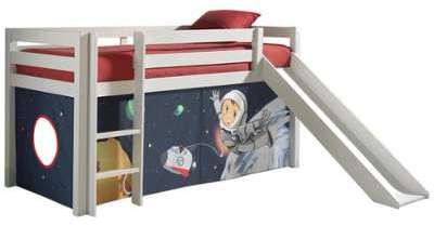 Vipack lit mi hauteur charlotte blanc avec tente princesse - Tente de lit mi hauteur ...