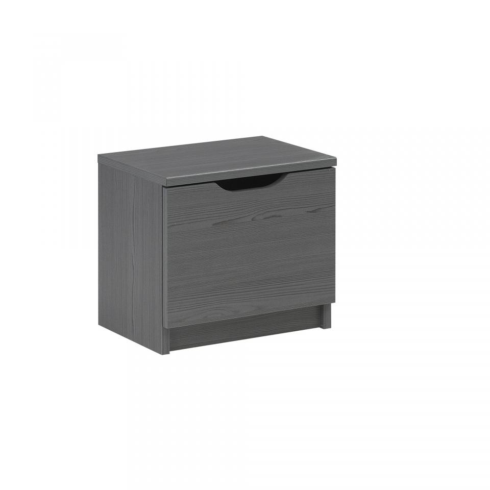 chevet en m tal gris 1 porte 1 tag re max droit. Black Bedroom Furniture Sets. Home Design Ideas
