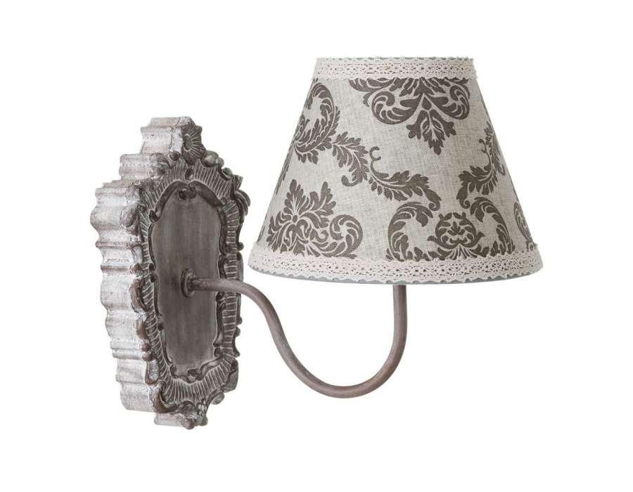 little table de chevet grise romantique laurence. Black Bedroom Furniture Sets. Home Design Ideas