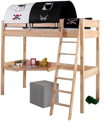 lit pirate 90x190 200 cm sommier crazy shark. Black Bedroom Furniture Sets. Home Design Ideas