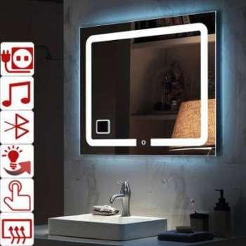 Cat gorie miroir du guide et comparateur d 39 achat - Miroir salle de bain lumineux avec prise de courant ...