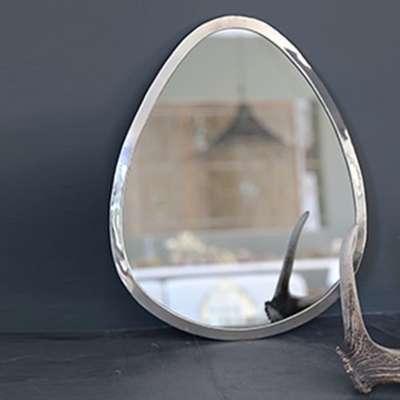 Galet miroir tablette blanc for Miroir galet