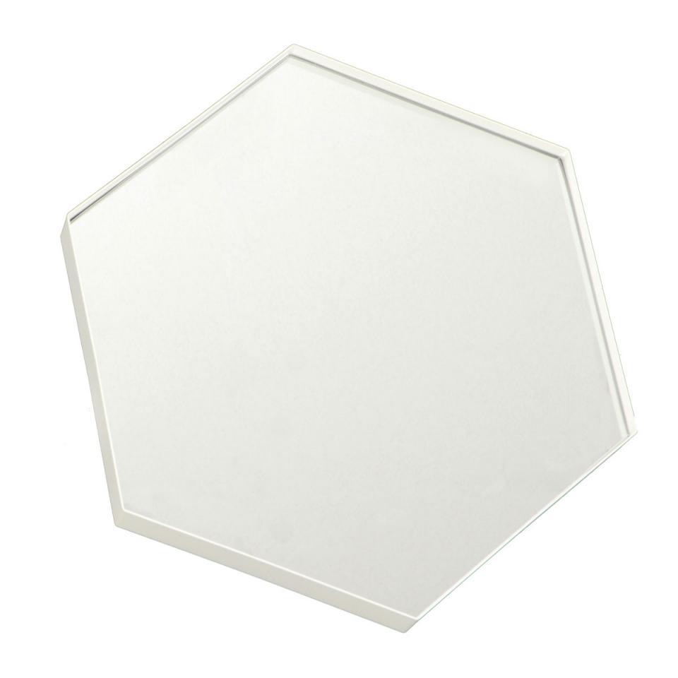 Broste cmiroir hexagonal en m tal finition cuivr e set d for Miroir hexagonal cuivre