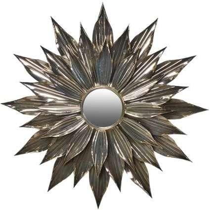 emde miroir soleil dor en m tal 80x80cm designer. Black Bedroom Furniture Sets. Home Design Ideas