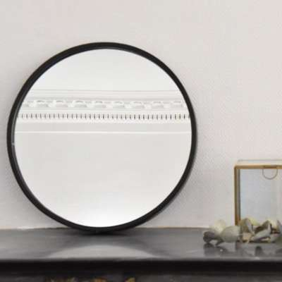 Cat gorie miroir page 12 du guide et comparateur d 39 achat for Miroir rond metal noir