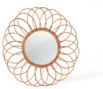 Little meuble dentr e tag re avec miroir for Miroir rond forme soleil