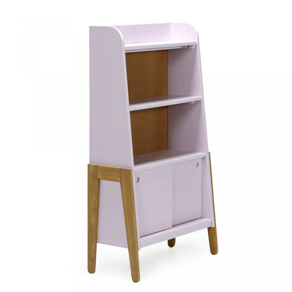 bibliotheque 405 compos e de 7 l ments finition noyer. Black Bedroom Furniture Sets. Home Design Ideas
