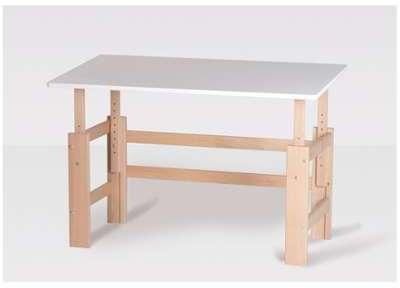 bureau enfant en bois avec banc ours calin. Black Bedroom Furniture Sets. Home Design Ideas