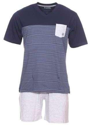 t shirt pyjama jersey manches courtes gris 590bcd65357