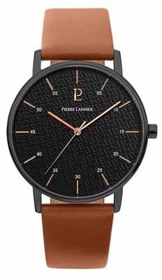cd8bf6845a3c6a Montre Lannier Collection 203f434 Pierre Lannier. Montre Elegance Style  Acier Noir Ronde ...