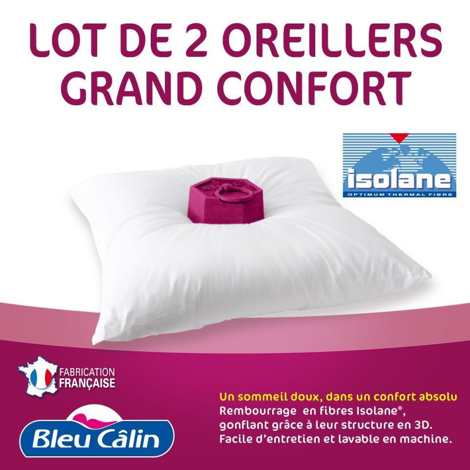 Catgorie oreillers du guide et comparateur d 39 achat - Oreiller grand confort ...