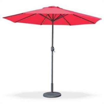 alice parasol led 27m helios taupe m t central lumi re int gr e et manivelle douve soldes. Black Bedroom Furniture Sets. Home Design Ideas