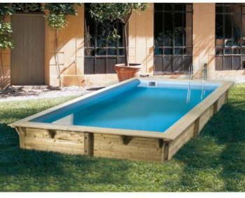 Ubbink Piscine Bois Sunwater 360 X H120m Coloris Du Liner Bleu