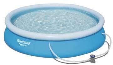 fast set pool 457x91 bestway piscine. Black Bedroom Furniture Sets. Home Design Ideas