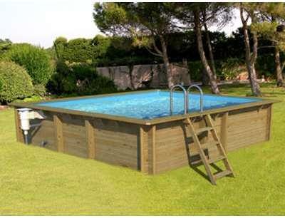 procopi weva piscine bois carr e 3x3 m hauteur 133 m. Black Bedroom Furniture Sets. Home Design Ideas