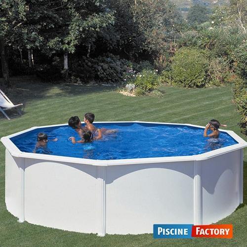 Piscine fidji ronde blanche 4 tailles disponibles for Piscine factory