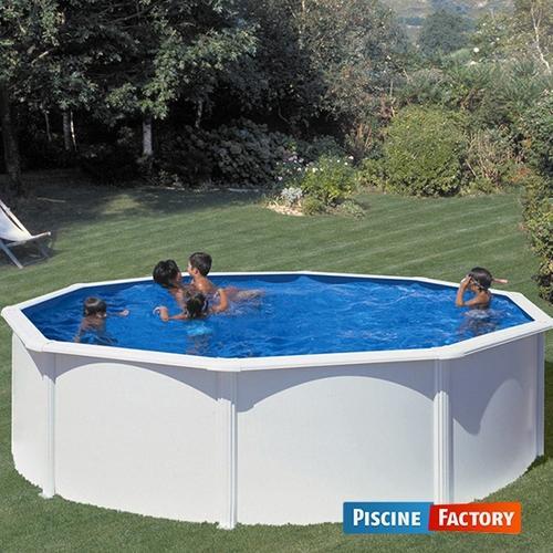 piscine fidji ronde blanche 4 tailles disponibles