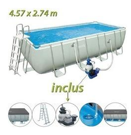 Intex ultra silver 549 x 274 x h132m for Piscine tubulaire rectangulaire 549 x 274 x 122 cm