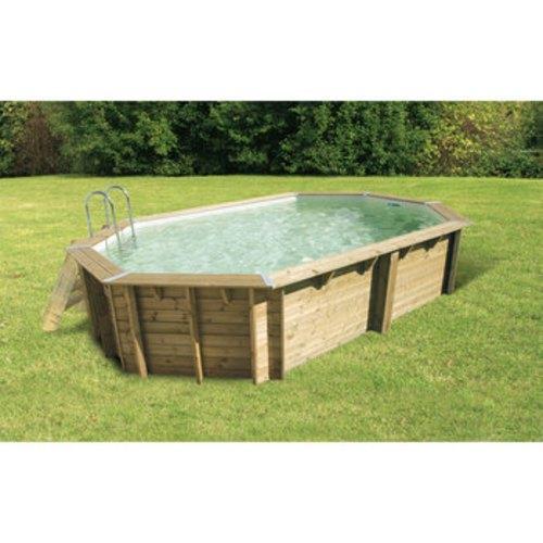 Ubbink 500x800 h140cm liner beige 75 100 me for Liner piscine bois octogonale