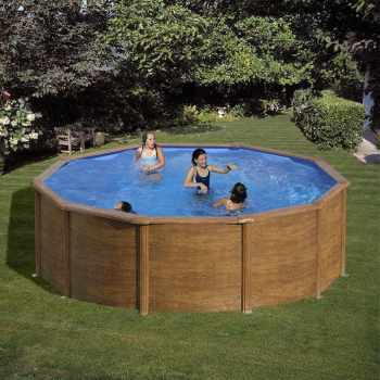 Beautiful Piscine Acier Gr Aspect Bois With Piscine Acier Intex