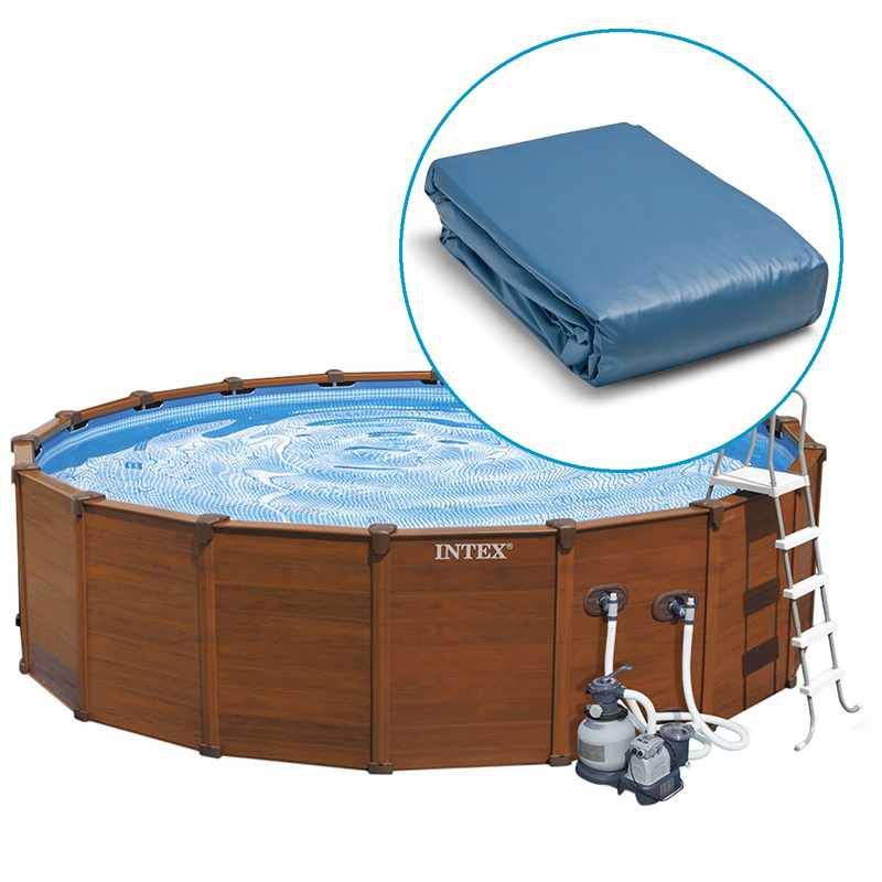 Intex liner s quo a rond x 132 m liner seul for Liner piscine ronde 5 50