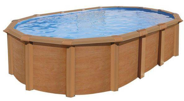 Trigano garage mtal m2 yardmaster for Piscine hors sol aspect bois