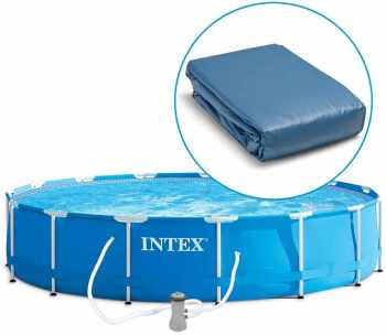 Intex liner tubulaire rond bleu 366 x 076 m liner s for Liner pour piscine tubulaire intex