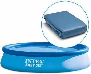 Intex easy set 457 x h084m for Liner piscine ronde 3 60