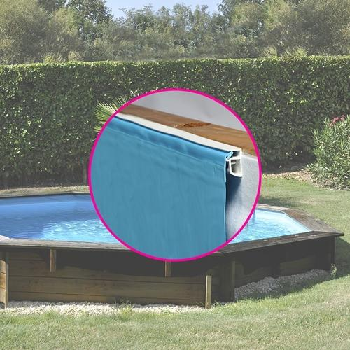 Liner pour piscine intex sequoia ou graphite tubulaire for Piscine bois sans liner