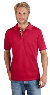 Polo épais grande taille Hommes promotion, rouge feu