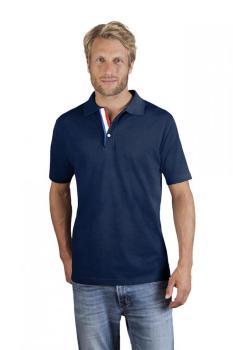 Polo épais poche grande taille Hommes, 4XL, bleu marine