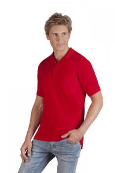 Polo épais manches longues Hommes, rouge feu