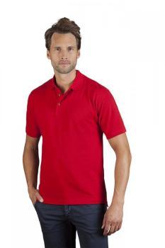 Polo retro Hommes promotion, XXL, blanc / rouge feu
