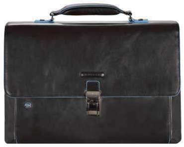 Piquadro Blue Square Serviette - Porte-documents cuir 41 cm compartiment ordinateur portable nachtblau lQP3etFQX