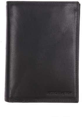 Portefeuille européen à 4 volets Arthur&Aston en cuir lisse noir L63peB