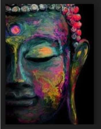 Bouddha Tableau Deco Cadre